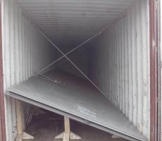 钢板打斜装箱